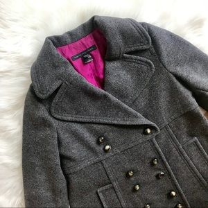Marc by Marc Jacobs Gray Wool Oversized Pea Coat